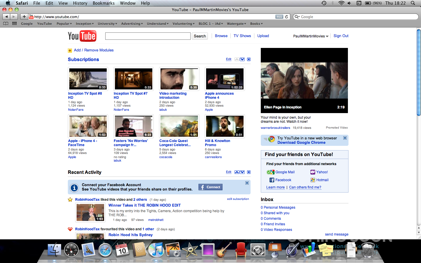 Inception: YouTube